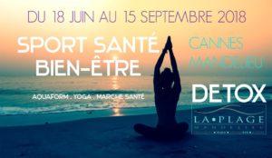 Yoga et detox sur la plage - été 2018
