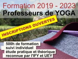 Inscription ouverte pour le prochain cycle de Formation de Professeurs de Yoga !